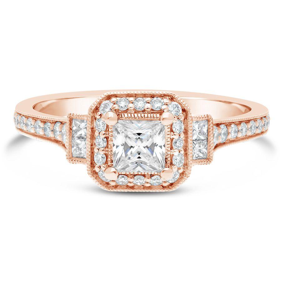 Sereena 14kt Rose Gold Vintage Engagement Ring Setting Er10510s0k44jj