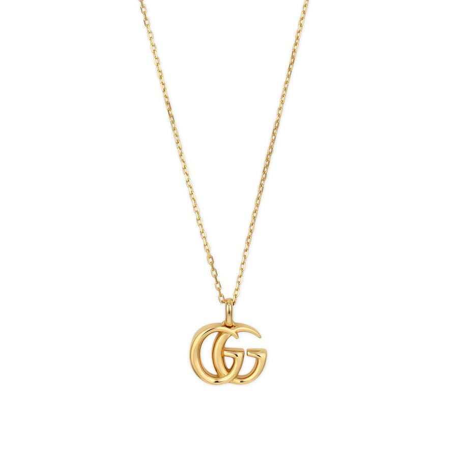 Gucci Running G Necklace with Small Double G Pendant in 18kt Yellow Gold  YBB502088001
