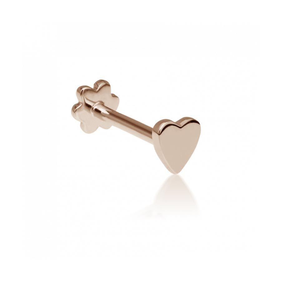 Maria Tash Rose Gold Heart Threaded Stud Earring Xheart